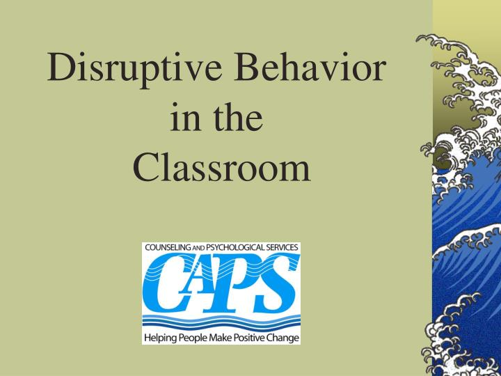 an analysis of disruptive behavior in the classroom in the case study of oliver wehby and reschly Teacher classroom management practices: effects of disruptive or aggressive student behaviour author/s: r oliver, j wehby and d reschly type of study: meta-analysis.