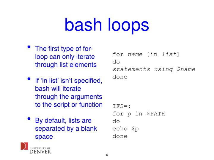 bash loops