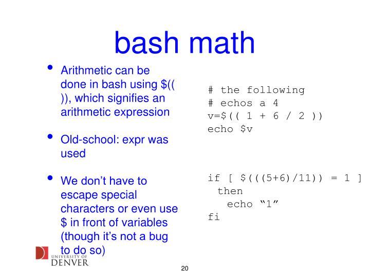 bash math