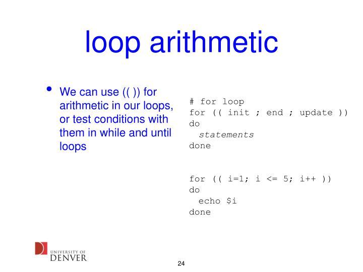 loop arithmetic