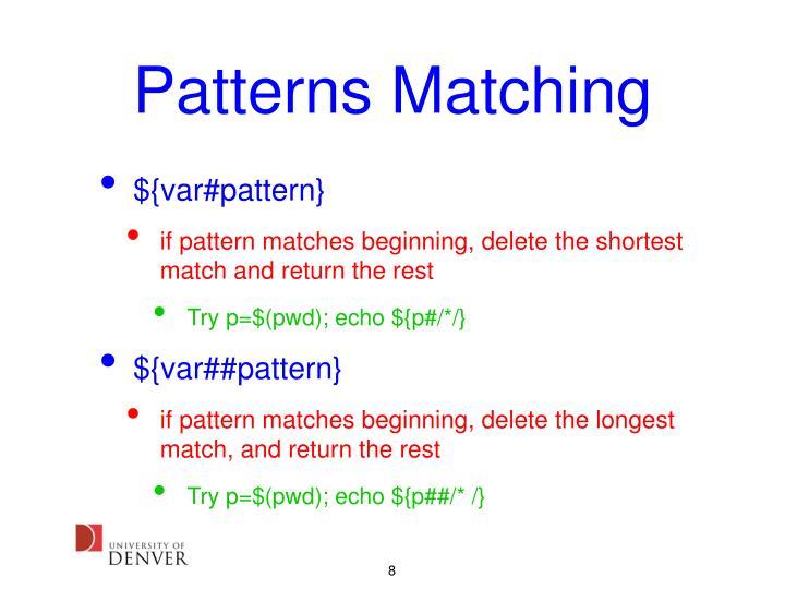 Patterns Matching