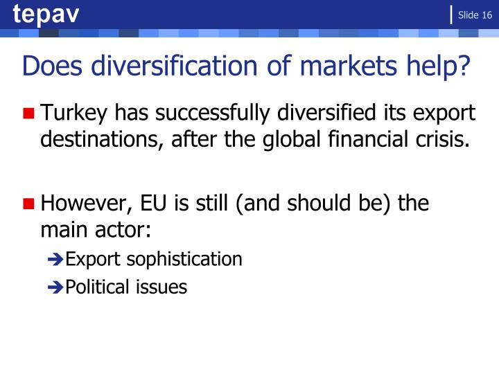 Does diversification of markets help?
