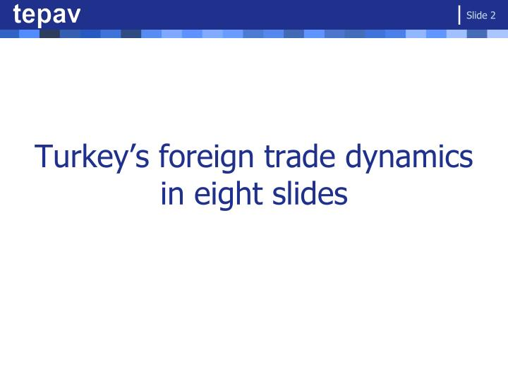 Turkey s foreign trade dynamics in eight slides