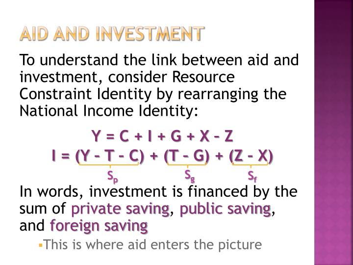Aid and Investment