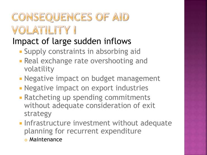 Consequences of Aid