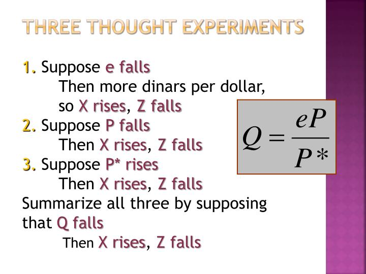 Three thought experiments