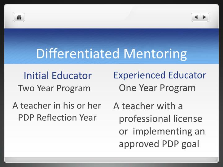 Differentiated Mentoring