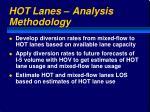 hot lanes analysis methodology