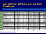 washington hov lanes on six lane roadways