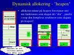 dynamisk allokering heapen