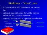 strukturer struct post2