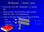 strukturer struct post3
