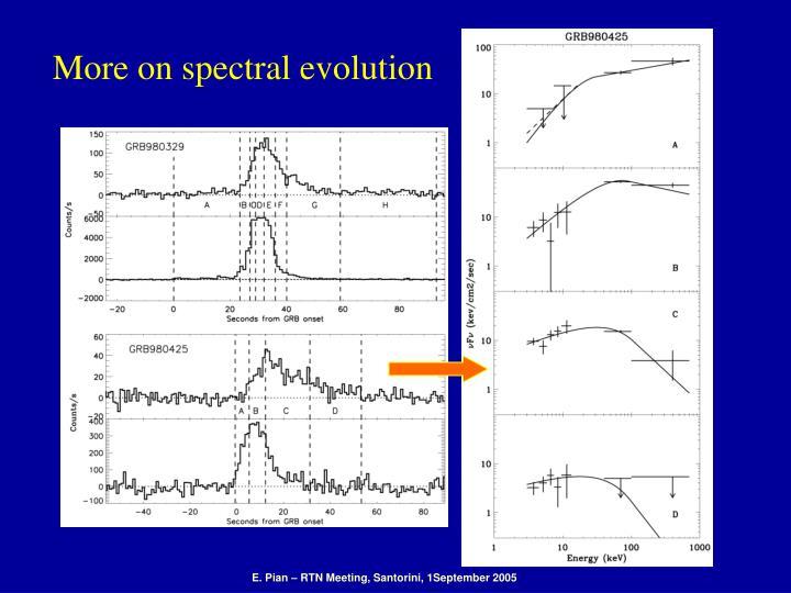 More on spectral evolution