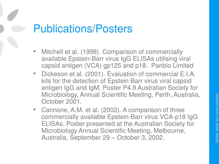 Publications/Posters