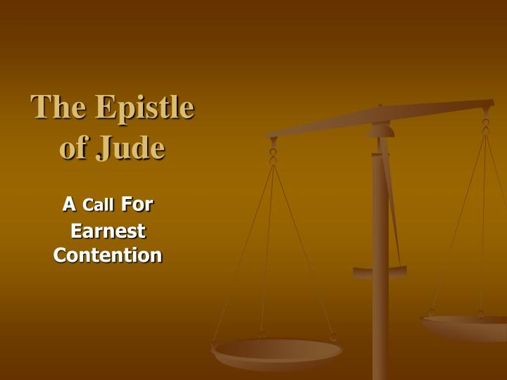 the epistle of jude n.