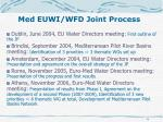 med euwi wfd joint process