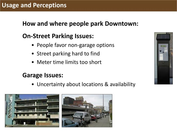 How and where people park Downtown: