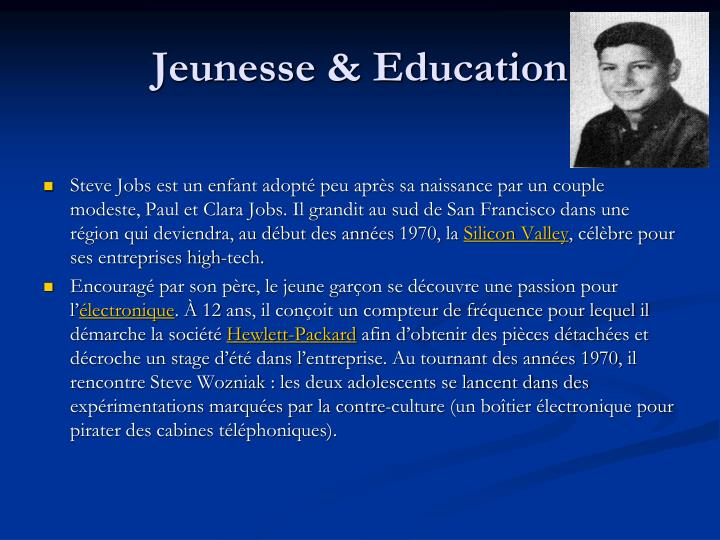 Jeunesse education