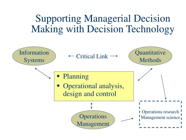 applied managerial decision making This course introduces the measurement, communication, and interpretation of cost data for management decision-making  applied managerial decision-making.