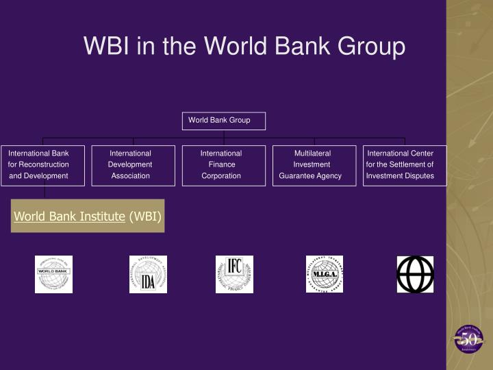 Wbi in the world bank group