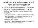 are there any technologies which have been overlooked