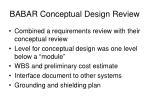 babar conceptual design review