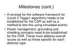 milestones cont1