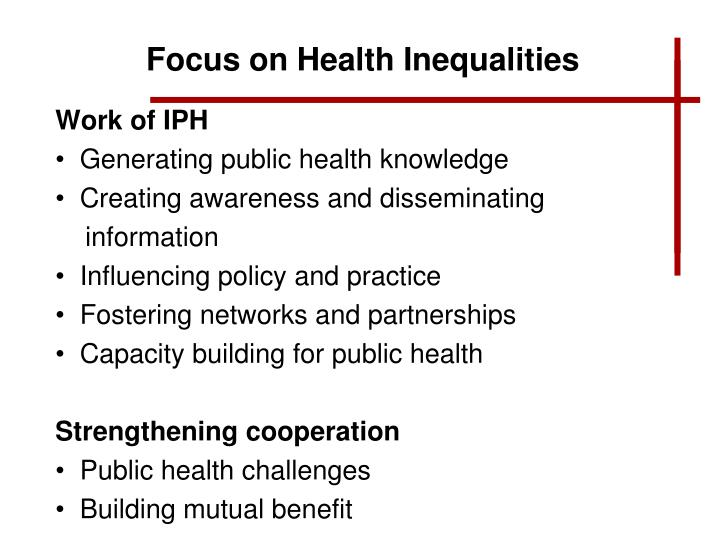 Focus on Health Inequalities