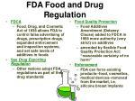 fda food and drug regulation
