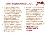 orkin exterminating v ftc