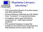 regulating cyberspace advertising