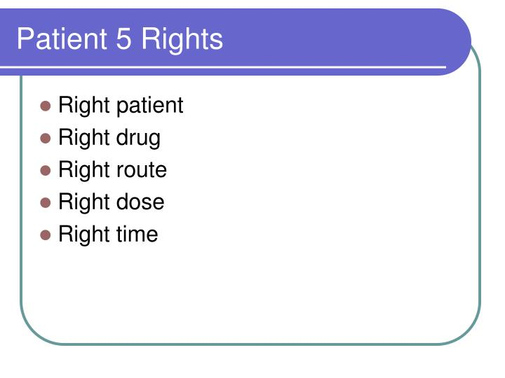 Patient 5 Rights