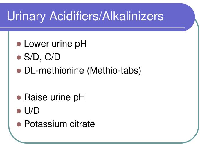 Urinary Acidifiers/Alkalinizers
