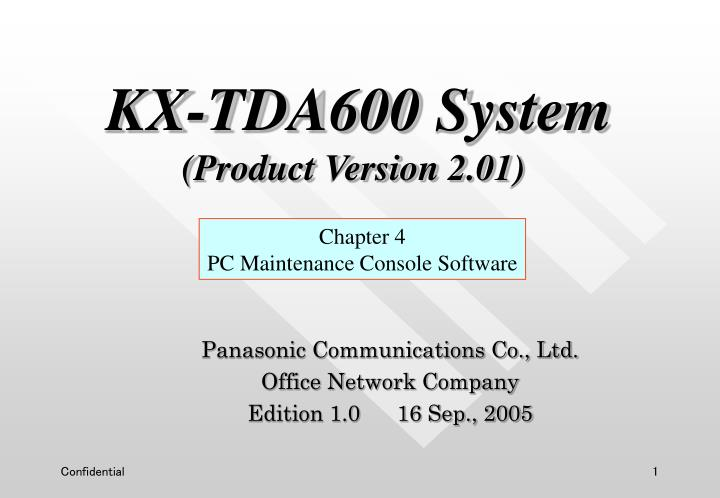panasonic communications co ltd office network company edition 1 0 16 sep 2005 n.