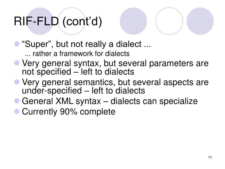 RIF-FLD (cont'd)