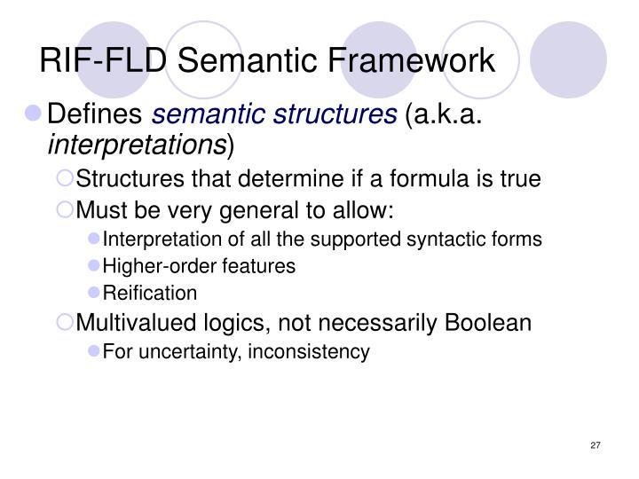 RIF-FLD Semantic Framework