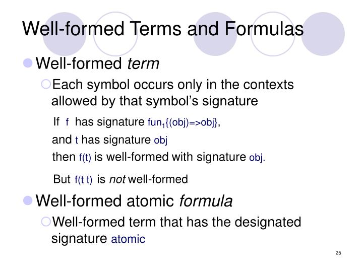 Well-formed Terms and Formulas