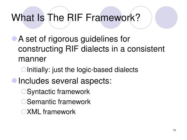 What Is The RIF Framework?