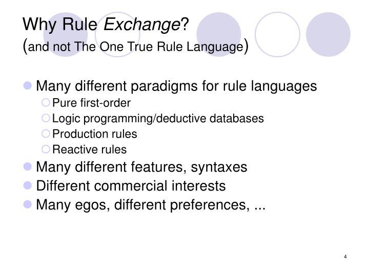 Why Rule