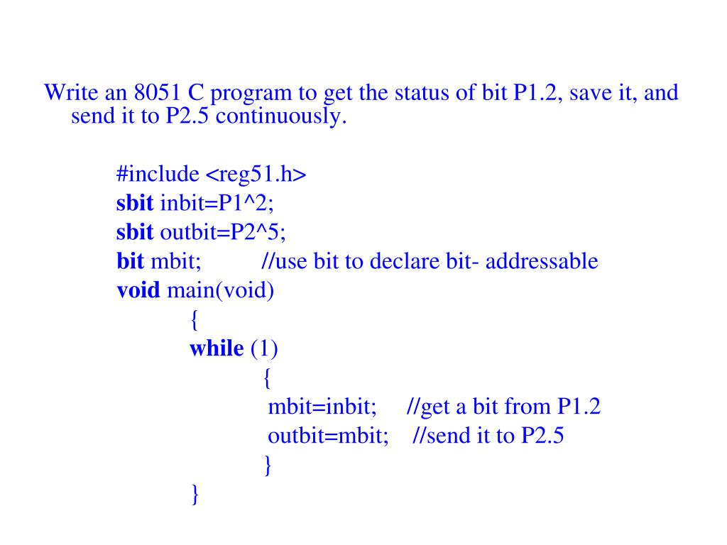 PPT - UNIT 3 : EMBEDDED 'C' PROGRAMMING PowerPoint