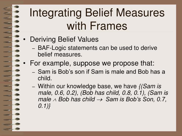 Integrating Belief Measures with Frames