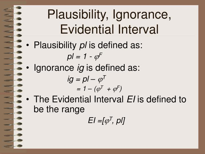 Plausibility, Ignorance, Evidential Interval