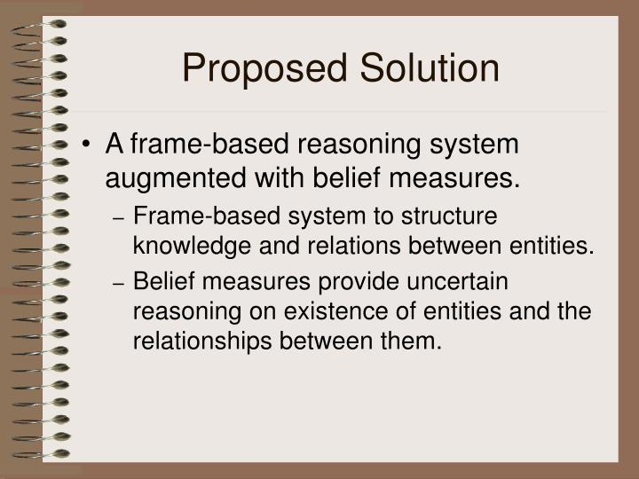 Proposed solution