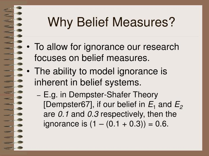 Why Belief Measures?