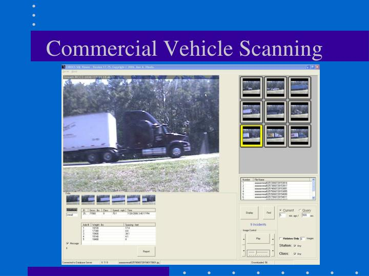Commercial Vehicle Scanning