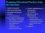 promising educational practices from the literature