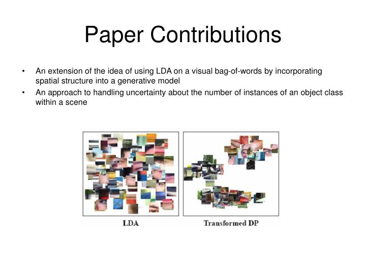 Paper contributions