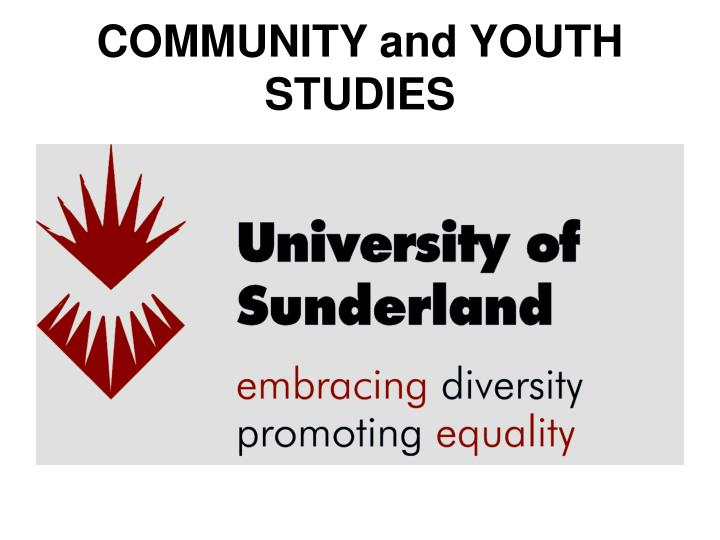 community and youth studies n.