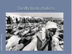 death from cholera