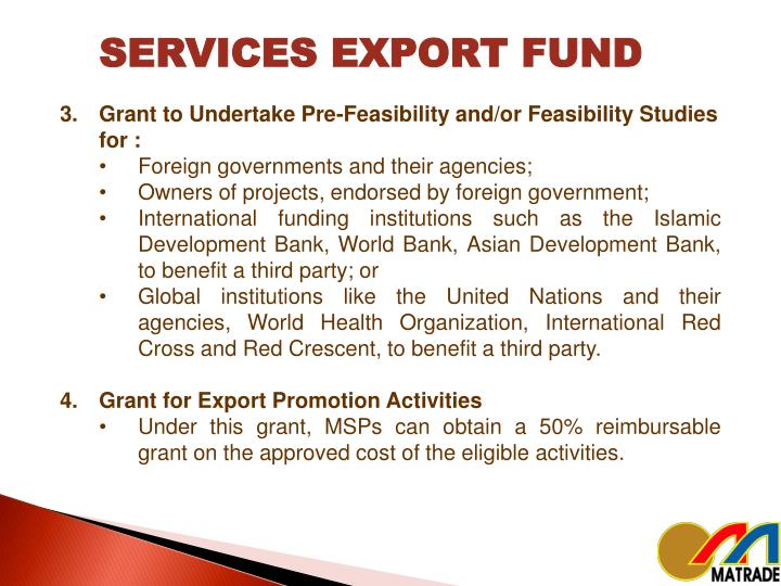 SERVICES EXPORT FUND